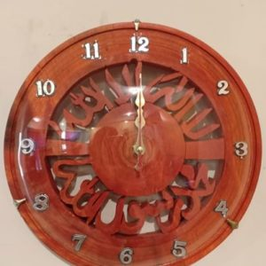 HandMade Wooden Islamic Clock