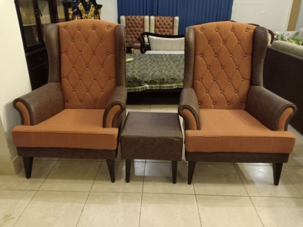Long Back Chairs Set With Table