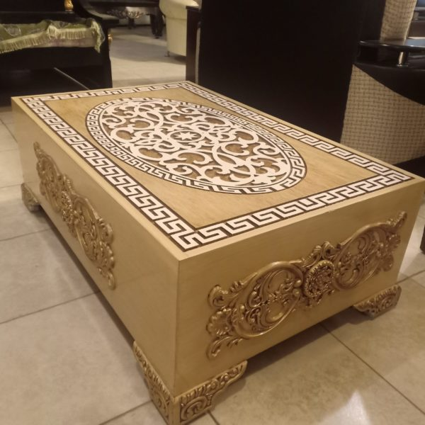 3D Emboss Versace Coffee Table